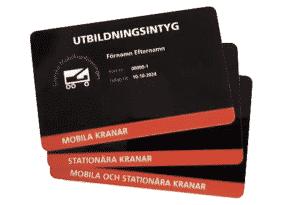 mobilkranföreningens utbildningsintyg för kranförarlärling
