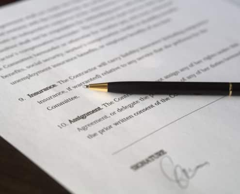 Undertecknande av avtal